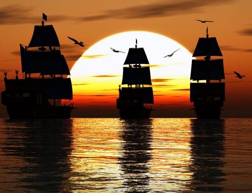 3D Sunset Scene